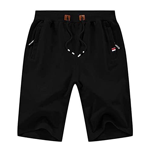 Pantalones Cortos para Hombres Casual Classic Fit Drawstring Summer Beach Shorts XXXL