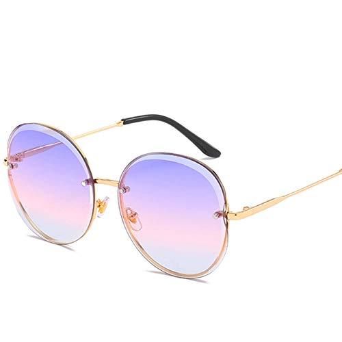 Gafas de sol sin marcar Ladies Moda Gafas de sol Ancla Net Red Photo Fashion Big Frame Cut Borde Borde Viaje al aire libre Sombrilla (Color : I)
