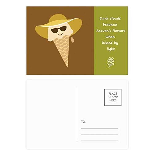 Postkarten-Set mit Hut und Brillenkopf, mit Poesie, 20 Stück
