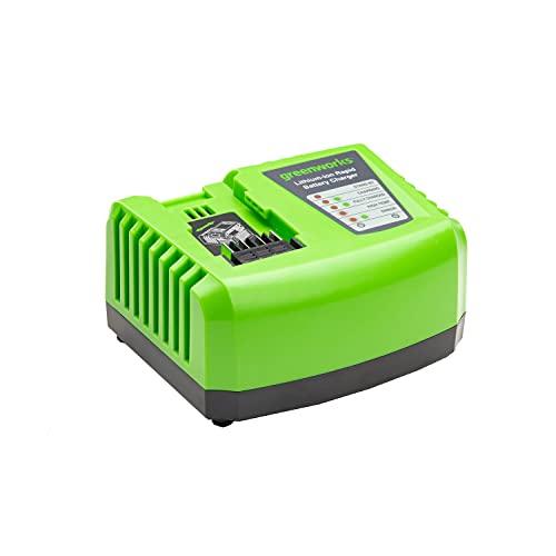 Greenworks Caricabatterie Rapido G40UC4, Li-Ion 40 V 4 A Tempo di Ricarica 30 min con Batteria 2 Ah Adatto a Tutti i Dispositivi e Batterie della Serie 40 V Greenworks Tools