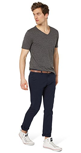 TOM TAILOR DENIM Herren solid skinny chino with belt Hose, Blau (blue grey 6889), W31/L34 (Herstellergröße: 31)