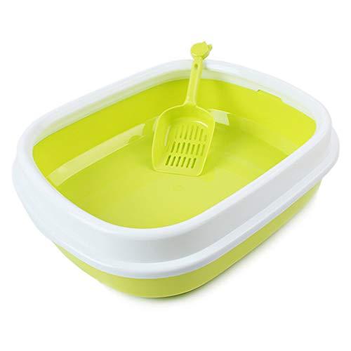Jlxl kat nestlade huisdier schoonmaken vuilnisbak waterdichte slijtvaste semi-gesloten toilet, Geel
