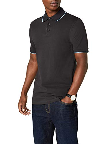 James & Nicholson Herren Poloshirt Polo Campus grau (graphite/aqua) Large