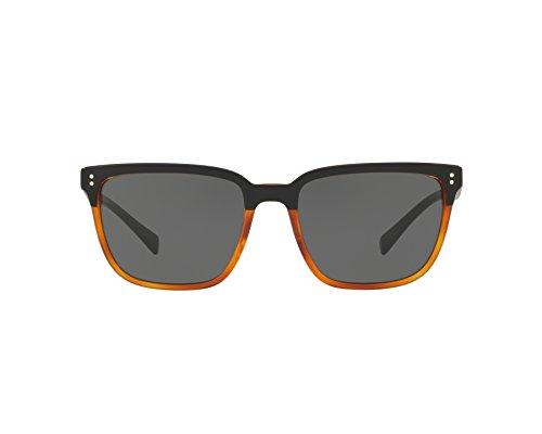 BURBERRY 0BE4255 36505V 56 Gafas de sol, Negro (Top Black On Amber/Grey), Hombre