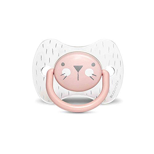 Suavinex Hygge Baby: Whiskers 306603 Chupete para Bebés con Tetina Fisiológica, 6-18 Meses, Rosa