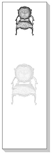 ARS Antigua Slim Schreiben Blöcke (Notizbücher) • Chippendale French Vintage Stuhl • Gravur • zwei Blöcke je 50Blatt–insgesamt 100Bedruckte Blatt
