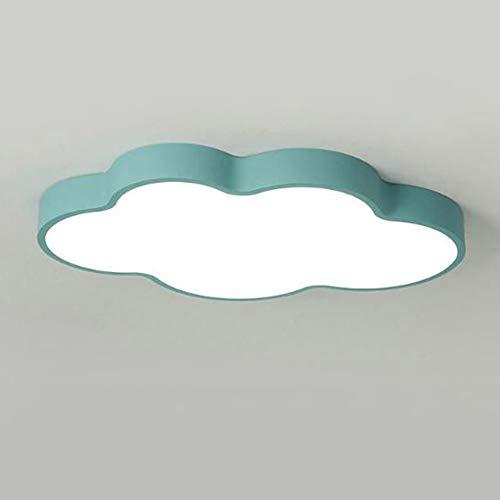 SXFYWYM Lumière de Plafond LED Macarons Couleur Nuage matériau Acrylique Lustre Ultra-Mince Gradation en continu pour Chambre d'enfant Salle de séjour étudiant éclairage,Green,63cm