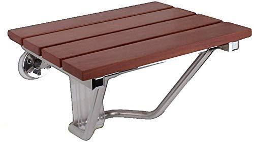 CLJ-LJ Taburete plegable de madera maciza, taburete de ducha plegable para baño, silla de pared de zapatos, puede soportar 150 kg