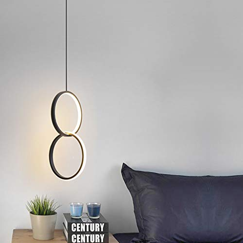 Kroonluchter, LED, rond, nachtkastje, unieke kop, kroonluchter, geschikt voor tijdelijke kroonluchters op de achtergrond, slaapkamer, wand [energieklasse A ]