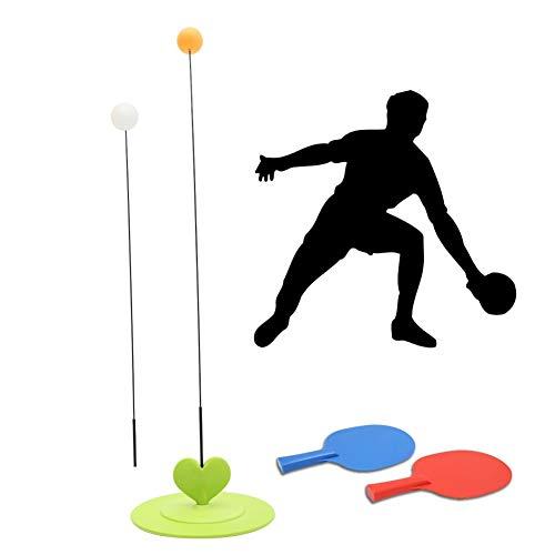 Herramienta de Entrenamiento portátil Mesa de Ping Pong elástico Suave del Eje Práctica Trainer Auto-Estudio de la máquina Inicio Exerc