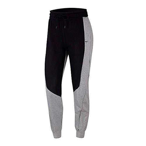 Nike Damen W NSW Jogger Pant FT CB Sport Trousers, Black/dk Grey Heather, M