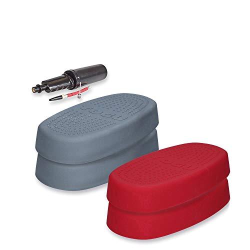 Togu Aero-Step One Level 1+2 - Bomba de aire (4 unidades), color gris y rojo