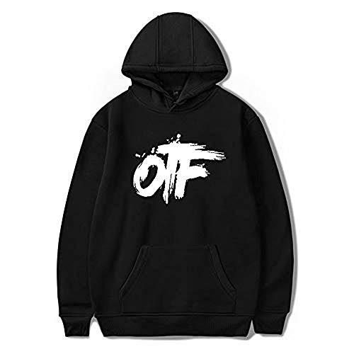 WAWNI King Von OTF Hip Hop Unisex Hoodie Sweatshirt Men/Women Harajuku Sunset Curve Costume Hoodies Sweater Clothes (Black3,M)