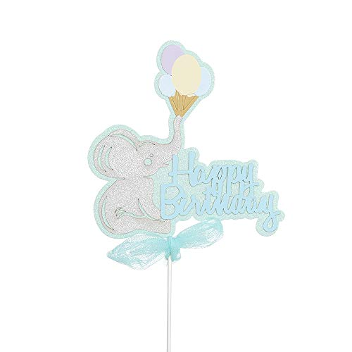 Lemon-Land Nieuwe Glitter Baby Douche Gunsten Regenboog Picks Cake Decor Verjaardag Party Decoratie Cupcake Toppers J Zwart