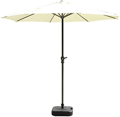 REWD Outdoor Patio Umbrellas Parasols 9ft/2.7m Garden Patio Umbrella - Outdoor Market Table Umbrella with Crank for Garden, Deck, Backyard and Pool Side Windproof (Color : Beige)