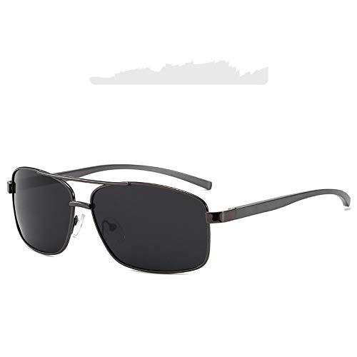 Secuos Moda Gafas De Sol Polarizadas De Marca para Hombre, Gafas De Sol De Aluminio Y Magnesio, Gafas De Conducción Rectangulares para Hombre, Uv400 C2
