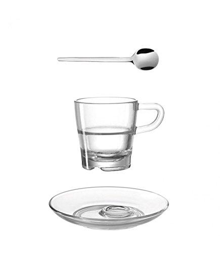 Leonardo Espresso Senso (Set von 3), transparent