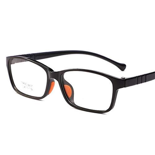 ZYM Kinder optische Rahmen Brillen Brillen Doppel-Farbe Art Mädchen Junge Kinder Brille Kids Brillen (Frame Color : Black Blue)