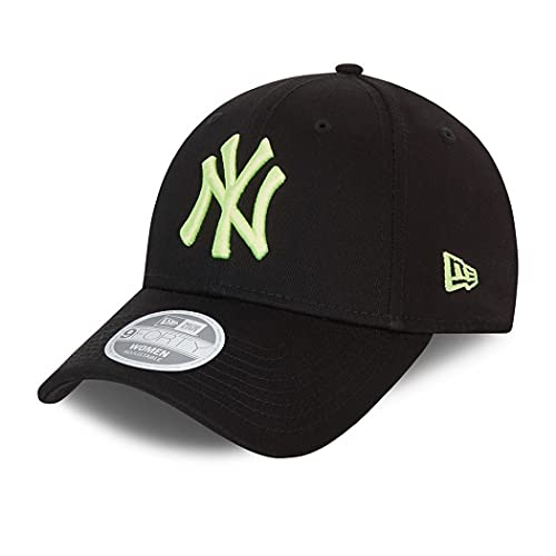 New Era New York Yankees MLB Cap Basecap Kappe Baseball Damen Frau schwarz gelb - One-Size