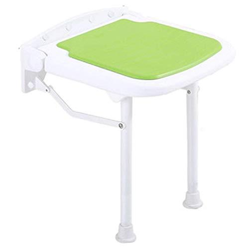 Z-SEAT Asientos de Ducha de baño Asiento de Ducha Plegable Silla de Ducha de Maternidad montada en la Pared Taburete de baño Zapatos de Repuesto Antideslizantes Verde - SOP