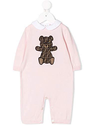 Luxury Fashion | Fendi Baby-meisjes BUL034A3TEF0C11 Roze Katoen Jurken | Lente-zomer 20
