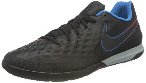 Nike React Legend 8 PRO IC, Scarpe da Calcio Unisex-Adulto, Nero (Black/Black-Siren Red-Lt Photo Blue-Cyber), 41 EU