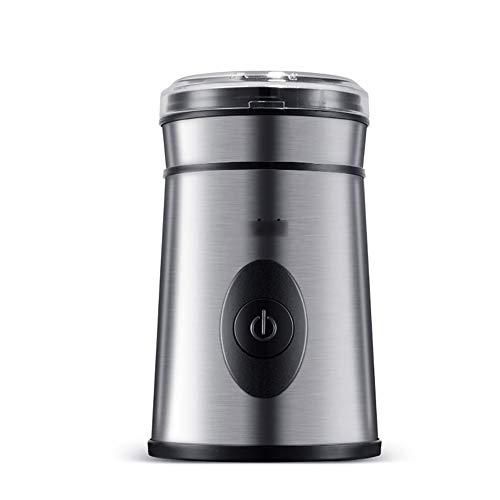 Macinacaffè elettrico, macinacaffè in acciaio inossidabile con motore ad alta potenza Macinacaffè in acciaio elettrico per chicchi di caffè Spezie multifunzionali Erbe Noci in gran