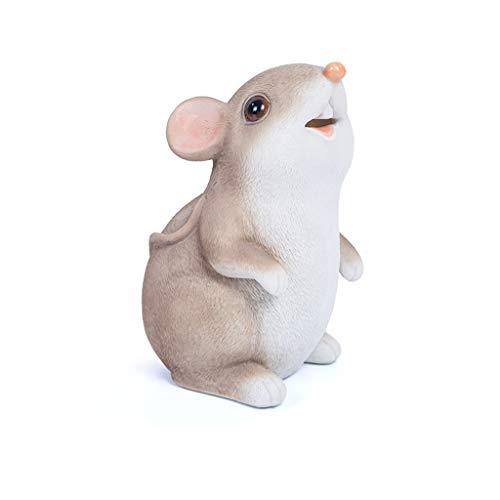 Rata Caja de Dinero de Juguete niños Decoración ratón Hucha Comer el Dinero del Regalo de los niños (Color : Beige - Can't Open)