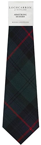 I Luv Ltd Gents Neck Tie Armstrong Modern Tartan Lightweight Scottish Clan Tie