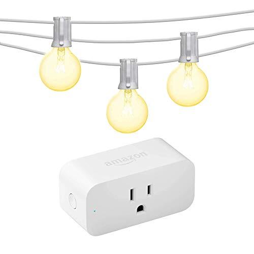 Amazon Smart Plug bundle with Mr Beams Globe G40 Bulbs (50 feet) - White
