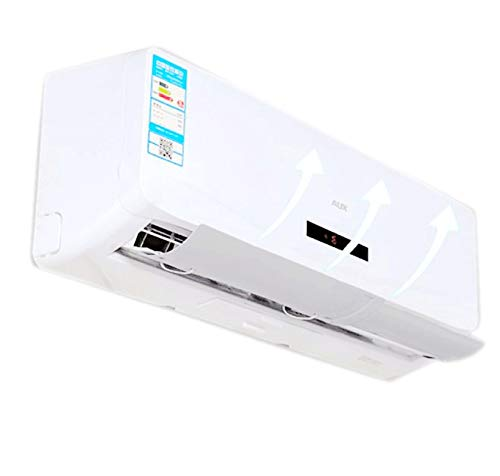 Adjustable Air Conditioner Deflector Confinement Air Deflector Outlet Air Wing Air Cooled Baffle Wind Direction Telescopic Windshield for Home, White