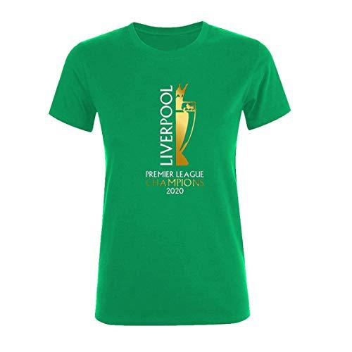 Liverpool Camiseta Mujer   Liverpool FC Mujeres   Camiseta de fútbol   Liverpool England Champions 2020   Camiseta de fútbol para mujer   100% algodón