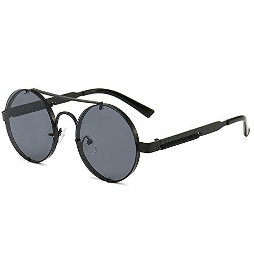 Gafas de sol góticas redondas Steampunk Retro Gafas de sol Señoras Hombres Moda Gafas de sol Sombras Conducción Gafas de sol UV400 Gafas Polarizadas Gafas de sol Hombres Frescos para mujer Deportes