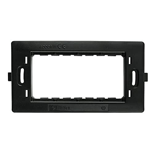 Aigostar Livinglight Placca 4 moduli in tecnopolimero, Bianco, 1 pezzo
