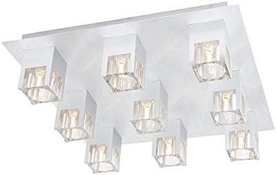 Wohn Schlaf Zimmer Decken Leuchte Lampe 9x Osram Halogen Strahler Wofi DAPHNE