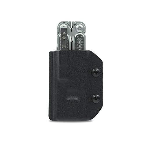 Clip & Carry Kydex Fourreau pour outil multifonction Leatherman Free P4 – Fabriqué aux États-Unis (outil multifonction non inclus) EDC Étui pour étui à outils multifonction Noir