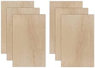 "6 Packs of Maple   6mm 1/4 inch, 12""x19"" Premium Grade A1, Two Side, MDF Core, Glowforge Ready, Unfinished   12 Species: Walnut, Cherry, Oak, Knotty Pine, Alder, Beech, Fir, Sapele, Mahogany, Bamboo"