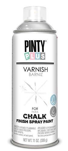 PINTYPLUS CHALK 821 Barniz Spray 520cc Mate Agua CK821, Transparente, Estándar