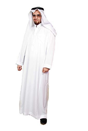 Egypt Bazar Dreiteiliges Araber Scheich Kostüm Scheichkostüm, Karnevalskostüm - Faschingskostüm- Größe: L, Weiss