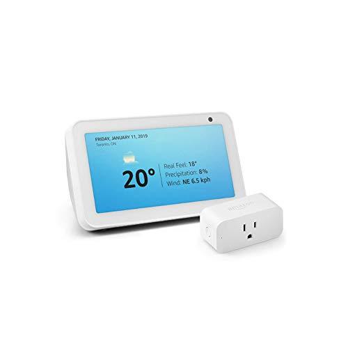 Echo Show 5 with Amazon Smart Plug, Sandstone (Electronics)
