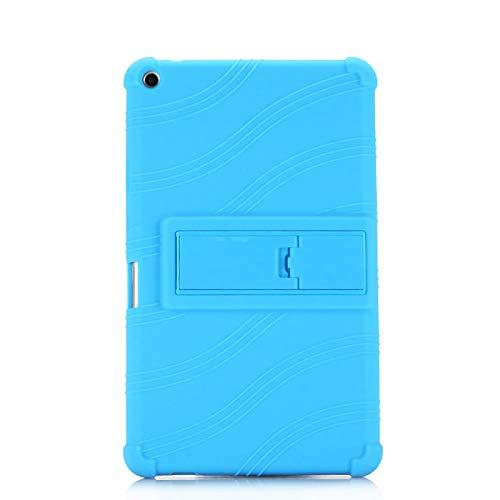 Cubierta de la Caja de Soporte a Prueba de Golpes para niños para Huawei MediaPad T3 8.0 KOB-L09 KOB-W09 Tablet Funda para Huawei T3 8 Honor Play Pad 2 8.0'-Azul