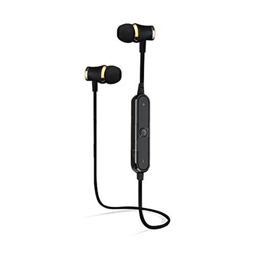 Shot Case Auriculares Bluetooth con Anillo para Motorola Moto G7 Power inalámbricos con Mando a Distancia, Sonido Manos Libres, Color Negro