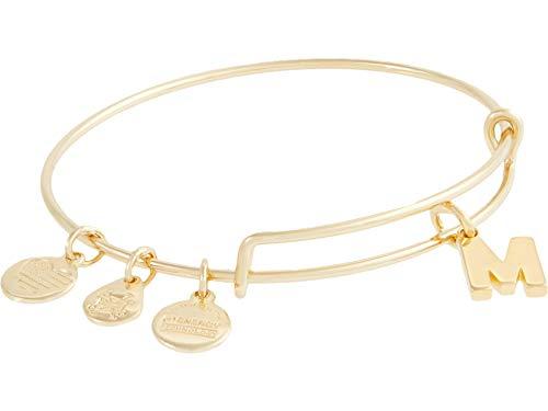 Alex and Ani Initial M III Bangle Bracelet Shiny Gold One Size