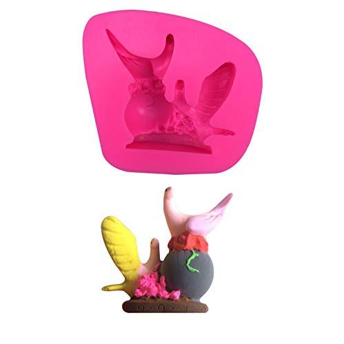 Tauben Vögel Tier Silikon 3D Fondant Kuchenform Kaugummipaste Dekoration Form Silikonform Kuchen Dekorieren Fondant 7 * 6,5 * 2 cm
