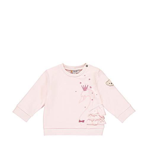Steiff Baby-Mädchen mit süßer Teddybärapplikation Sweatshirt, Rosa (Barely Pink 2560), 050