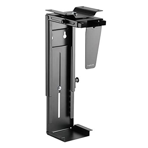 LogiLink Einstellbare Untertisch/Wand PC-Halterung 360° drehbar mit variabler Größeneinstellung für PC\'s bis zu 10kg