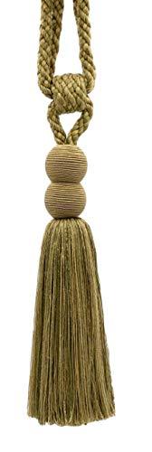 DecoPro Vendu Individually|Artichoke Vert, Medium Gold|24 cm Tassel Tieback|Olive Grove