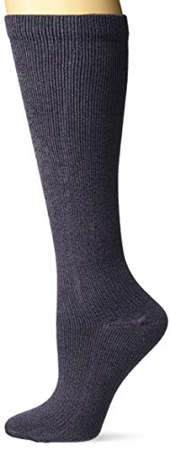 Dr. Scholl's Women's Travel Knee High Socks with Graduated Compression, Denim Heather, Shoe Size: 4-10