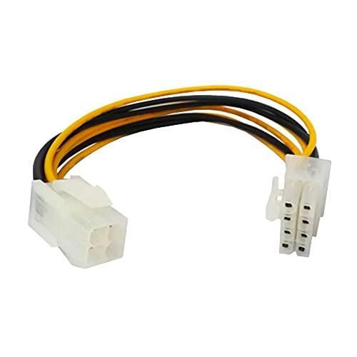 C53 Mainboard Kabel Stromadapter 4 pol ATX an 8 pol EATX/EPS P4 zu P8, 4-pol. Buchse, 8-pol. Stecker, Kabellänge: ca. 18cm