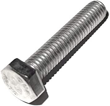 10 St/ück Sechskant Schrauben Vollgewinde DIN 933 V2A Edelstahl M6 30 mm